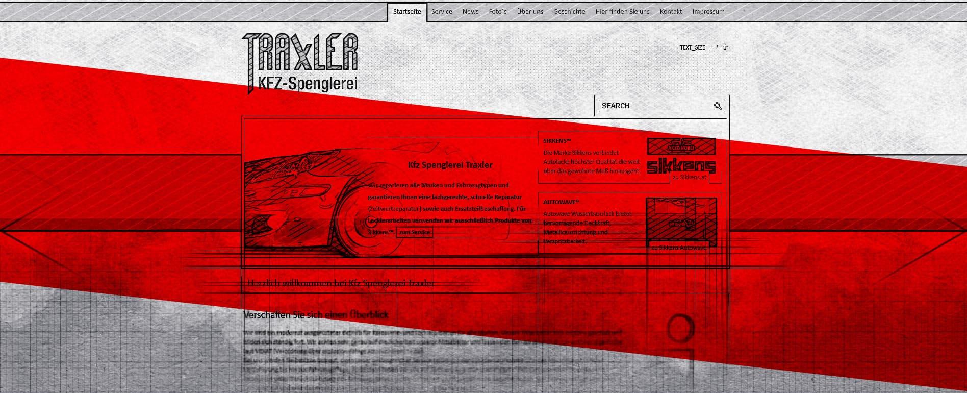 Webdesign: Webseite
