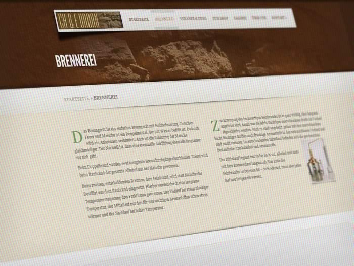 Webdesign Edelbrände