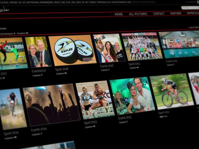 Webdesign Sportfotos