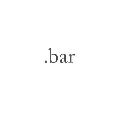 Top-Level-Domain .bar