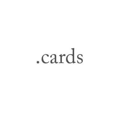 Top-Level-Domain .cards