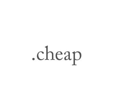 Top-Level-Domain .cheap