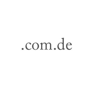 Top-Level-Domain .com.de
