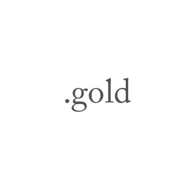 Top-Level-Domain .gold