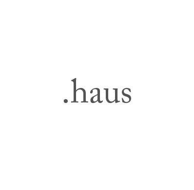 Top-Level-Domain .haus