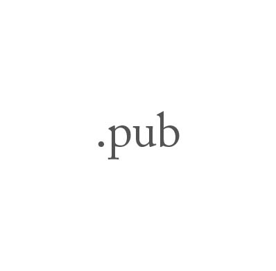 Top-Level-Domain .pub