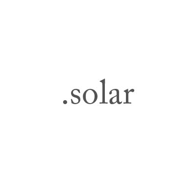 Top-Level-Domain .solar